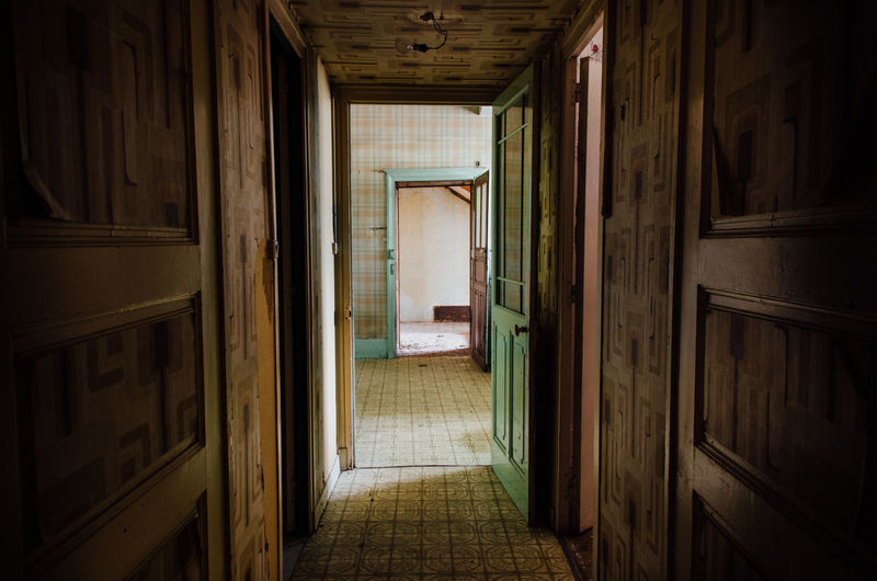 Abandoned Architecture Built Structure Corridor Day Door Fear Home Horror House Indoors  Interior No People Urbex