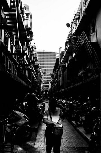 Streetphotography Bangkok Thailand Yoonjeongvin City Apartment City Life Street City Street Architecture Building Exterior Built Structure Alley Sidewalk Old Town Townhouse Motor Scooter
