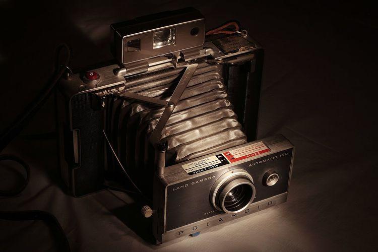 Vintage Camera Polaroid Land Camera Bellows 669 Still Life Photography Painting With Light MSJArt