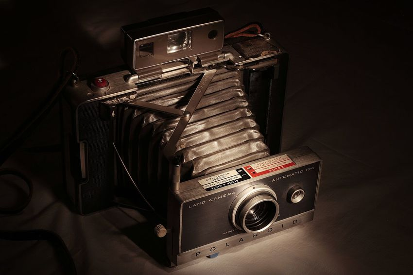Vintage Camera Polaroid Land Camera Bellows 669 Still Life Photography Painting With Light MSJArt