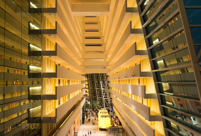 Marina Bay Sands Hotel Lobby 2 Marina Bay Sands Hotel Lobby Singapore Casino Architecture Geometry Lines