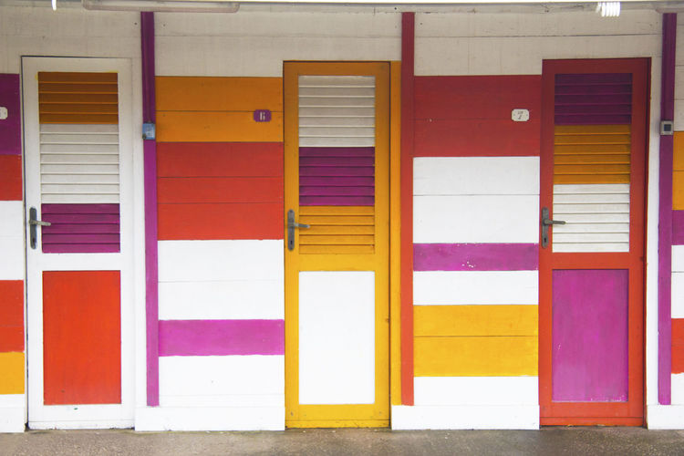 Architecture Beach Building Built Structure Door Entrance Multi Colored No People Pink Color Summer