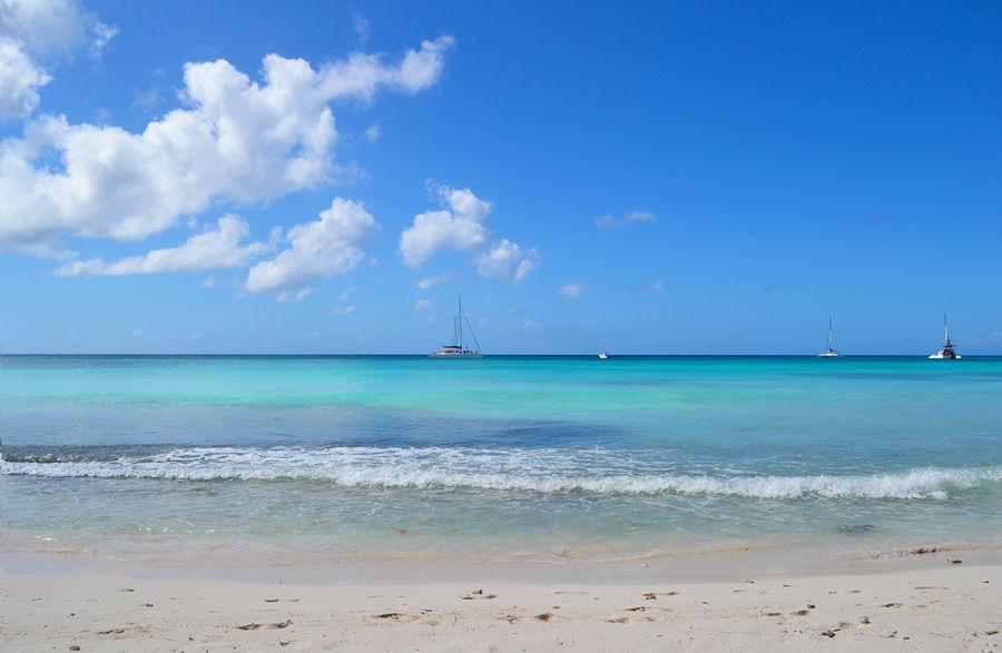 Saona Island Beach Boat Caribbean Caribbean Sea Clean Water Dominican Republic Island Paradise Paradise Beach Playa Saona Island Summer Tourism Tourists Vacations