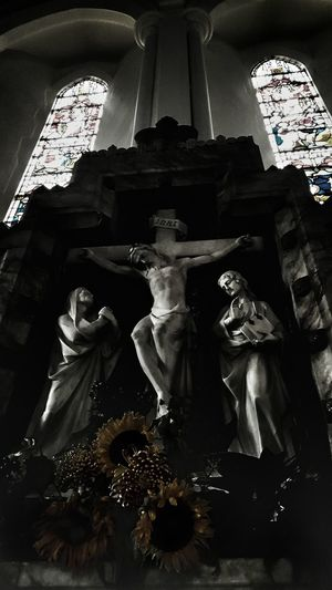 The present day horrors alive.  Blackandwhite Arts Culture And Entertainment Art Gallery Scenics EyeEm Best Shots Artsy Gothic Beauty  Gothic Gothic Style Church Churches Darkness And Light Dark Dark Art Darkness And Beauty Dark Side Dark Edit Statue Of Christ