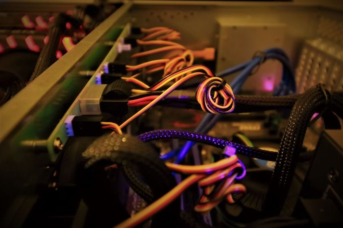 Mining Crypto Coins with GPU Mining Rig. CryptoCoin GPU Mining Grid Growing Mining Rig Security Bitcoin Bitcoin Miner Bitcoin Mining Computer Cryptocurrency Cryptography Ethereum Mining Gpu Hardware Hash Hash Rate Hi-tech Mining New Industry Popular Technology Videocard Wires Wires And Cables EyeEm Ready