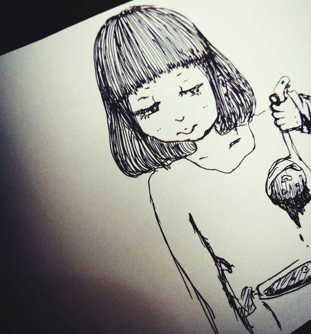 Illustration Illust 女の子 イラスト Girl ペン カレー Curry