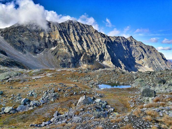 Outdoors Nature Eyemphotography Stones Likeit Wandern Mountain Rock - Object Mountain Peak Sky Landscape Mountain Range Cloud - Sky