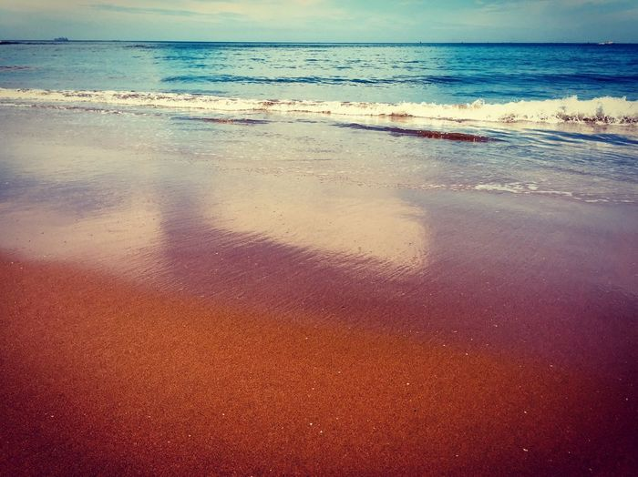 Sea Water Beach Land Horizon Horizon Over Water Scenics - Nature Beauty In Nature Sky Wave Tranquility Tranquil Scene Nature Motion Sand Surfing Aquatic Sport Day Sport Outdoors