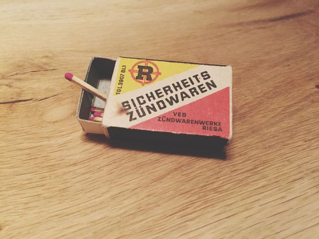 possibly as old as I am - Nostalgic  Matches made in Riesa GDR