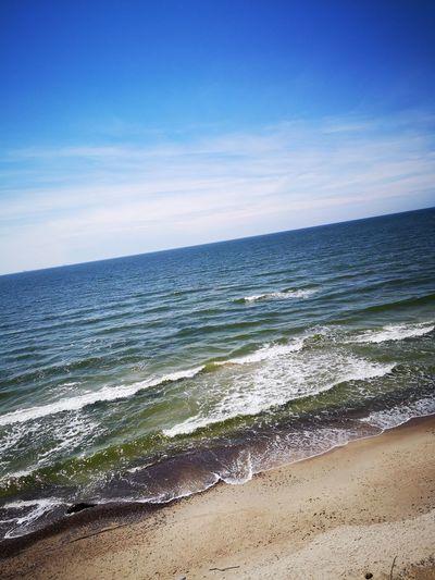 The breaking of a wave cannot explain the whole sea. Sky And Clouds Blue Sky Sand Smėlis Wind Baltic Sea Lithuania Lithuanian Nature Klaipeda Olandokepure Jura Water Wave Sea Beach Sand Sky Horizon Over Water