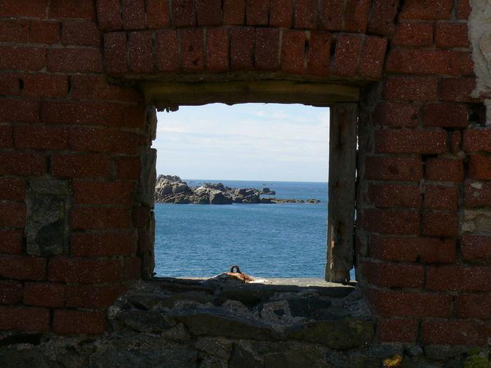 Brick Building Bricks No People Rocks And Water Scenics Sea Water Window
