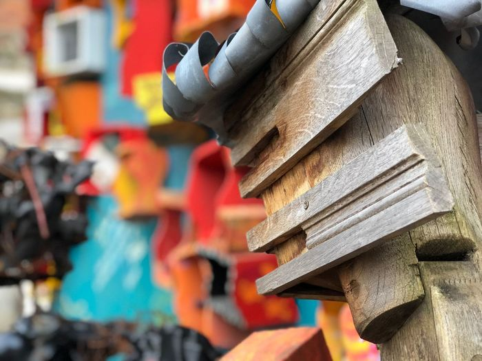 Recuperation Street Art Metal Structure Wood - Material HEAD Sculpture No People Day Architecture Outdoors Close-up