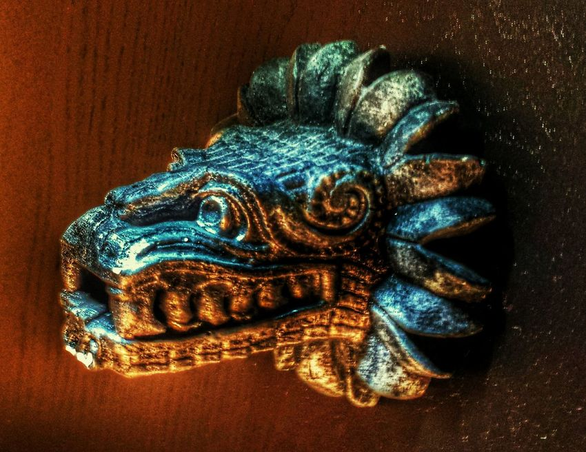 Prehispanic Aztec Historic Herritage Feather  Snake Quetzalcoatl