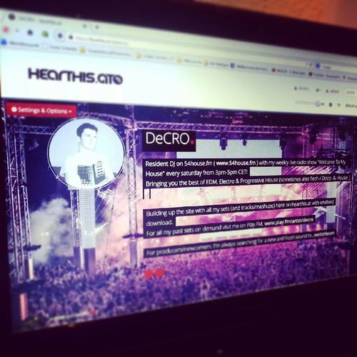 Now you can find me on www.hearthis.at/djdecro Check out the this awesome site with all my sets future-sets which can be downloaded!!! Hearthisat Hearthis Electro PROGRESSIVE house love beats life dj decro wtmh edm music play fun screen loud louder radio 54house fm art happiness