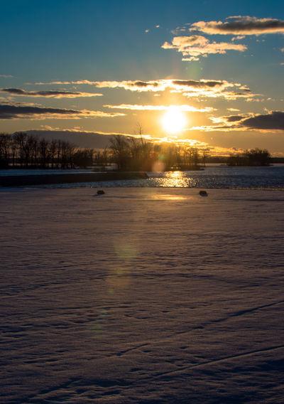 Canada Coast To Coast Idyllic Idyllic Scenery Sunset Sun Sky Scenics - Nature Water Cloud - Sky Beauty In Nature Tranquility Tranquil Scene Nature Sunlight No People Outdoors Orange Color Waterfront Sea Land Beach Reflection
