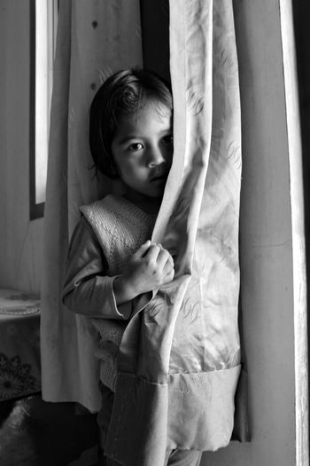 Child One Person People Childhood Children Only Indoors  One Girl Only Girls Day Adult Close-up Indonesian Shooter Indonesian Street (Mobile) Photographie Headshot Arsitecture Building Exterior EyeEmNewHere Wall Decoration Black And White Collection  B&W Collection Monochrome _ Collection MonochromePhotography Black And White Friday