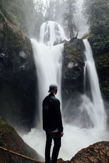 Long Exposure The Great Outdoors - 2016 EyeEm Awards The Following Adventure Vista Views Scenics Cold Rainy Day Cool Tones Washington State Idyllic Hiking Water Waterfall Feel The Journey Original Experiences Adventure Club People And Places Perspectives On Nature Be. Ready.