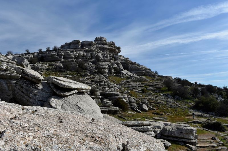 Rock Formations Against Sky At El Torcal Nature Reserve