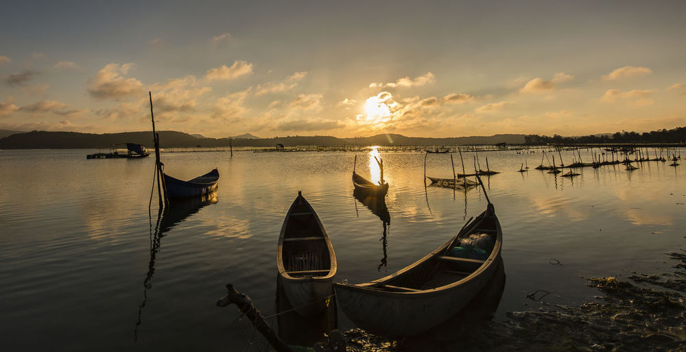 Phú Yên,VietNam Adventures In The City Beauty In Nature Fishing Boat No People Sailboat Sunset Wooden Post