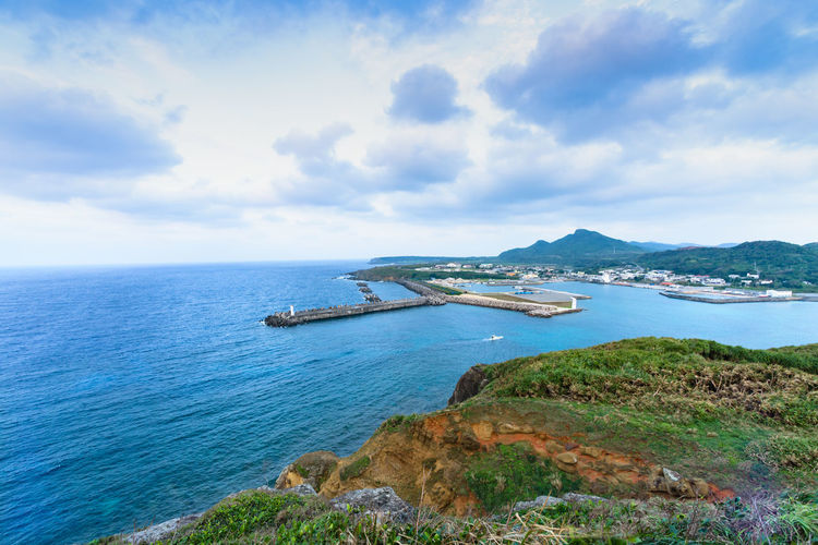 Scenic view of yonaguni island