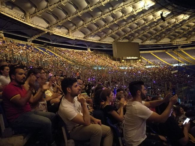 Tiziano Ferro Tour 2017 The Purist (no Edit, No Filter) Stadio Olimpico 30/Giugno/2017 Arts Culture And Entertainment Capture The Moment Color Photography Rome Italy🇮🇹 Event Performance Music Audience Crowd Indoors  Event Fun Enjoyment Large Group Of People Stage - Performance Space Sitting Nightlife People Illuminated Popular Music Concert Fan - Enthusiast Adult