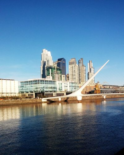 Cityscapes Puerto Sea Puente Puentedelamujer Ciudad Edificios Sky Blue 💎