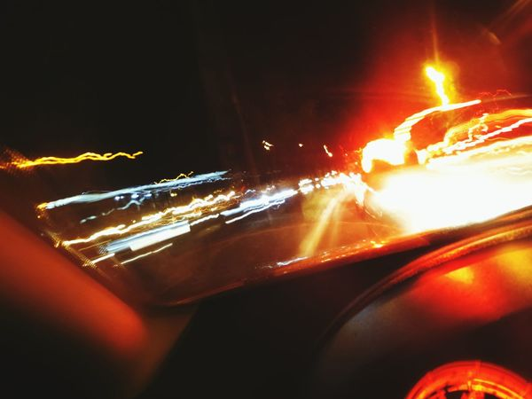Long Exposure On The Road OnTheCar Lights