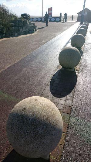 Holiday Resort Promenade Shadow Beach Pebble Close-up Sky Stone - Object