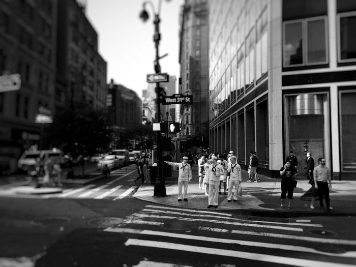 Sailors on the streets of New York Sailor Man Blackandwhite Street Life New York