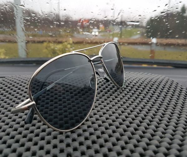 Sunglasses on a rainy day #JustMe EyeEm Selects EyeEmNewHere #England #photography Eyeglasses  Close-up Day