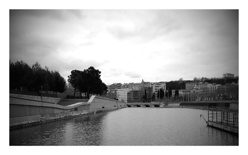 I follow rivers River Madrid Winter Blackandwhite