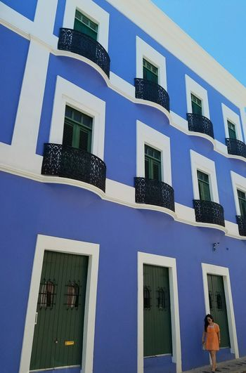 Color Block Minimalism Popular Simple Elegance Perspective Architecture The Architect - 2017 EyeEm Awards Minimalist Architecture The Street Photographer - 2017 EyeEm Awards Urban Landscape Light And Shadow Lines And Angles San Juan PR Colors Of My City Architectural Detail Built Structure City Landscape Urban Exploration Blue BYOPaper! Color Blockıng