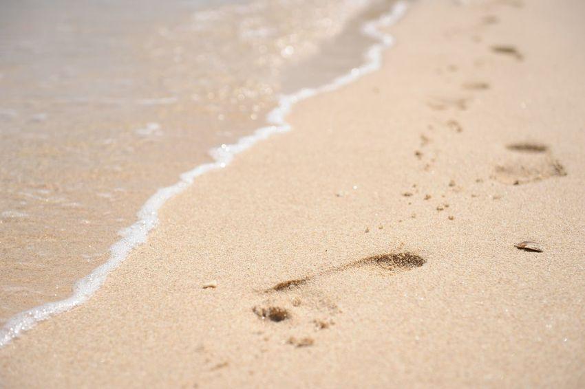 Beach Island FootPrint Sandbeach