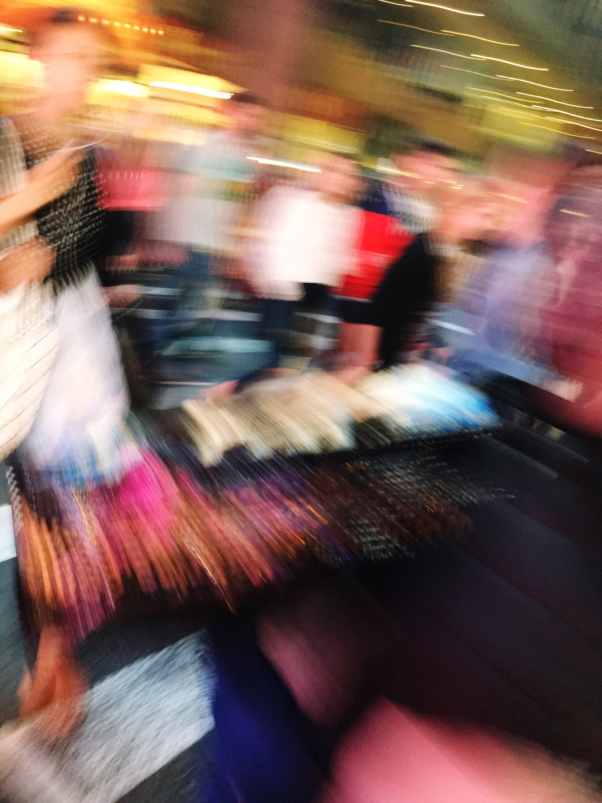blurred motion, real people, motion, large group of people, retail, women, lifestyles, men, outdoors, day, illuminated, crowd, city, people