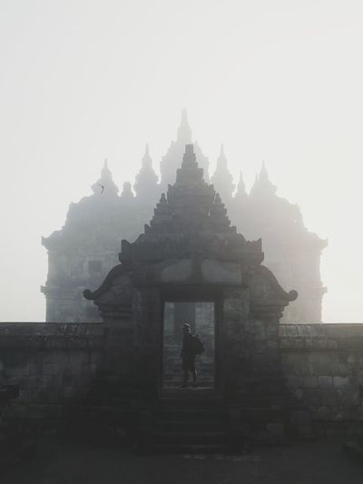 Travellers. The Traveler - 2019 EyeEm Awards Fog Place Of Worship Dawn Religion Tree Spirituality Architecture Sky Building Exterior Built Structure Ancient Civilization Ancient Rome Ancient Ancient Egyptian Culture Civilization Amphitheater Archaeology Ancient History Pagoda Old Ruin Egyptian Culture Stupa Pyramid Cambodian Culture Mayan The Past