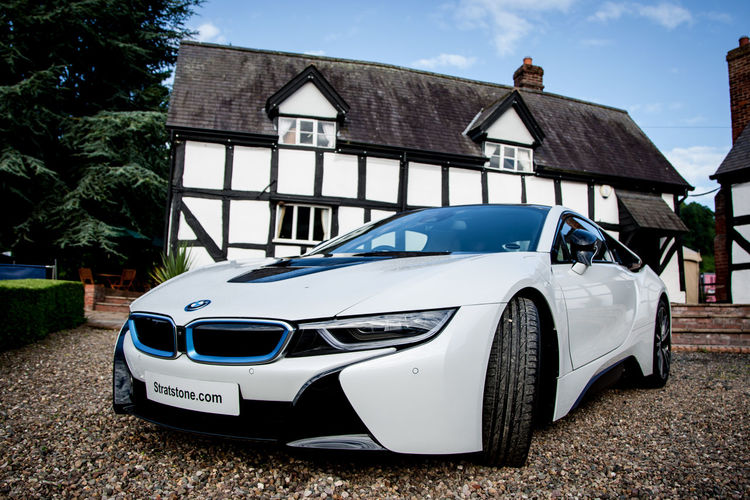 BMW i8 on display at Shelsley Walsh Architecture Bmw BMW I8 Building Exterior Car Carnival Cars Composition Electric House Hybrid Land Vehicle No People Outdoors Parking Perspective Shelsley Walsh Stationary