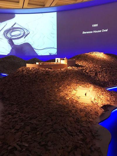 安藤忠雄 Tadao Ando Architecture Model Illuminated Night Outdoors No People