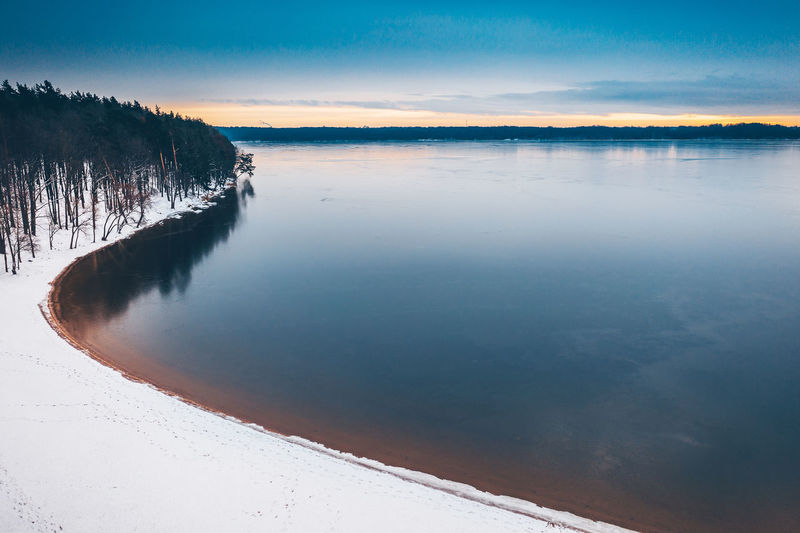 Frozen Drone  Aerial View Aerial Mavic 2 Mavic 2 Pro DJI X Eyeem Dji Winter Snow Ice Winter Wonderland Europe Kaunas Lithuania Lietuva Water Beauty In Nature Tranquility Tranquil Scene Sky Scenics - Nature Cold Temperature Nature Lake Non-urban Scene Reflection Idyllic No People Tree Sunset Waterfront Outdoors Frozen Water