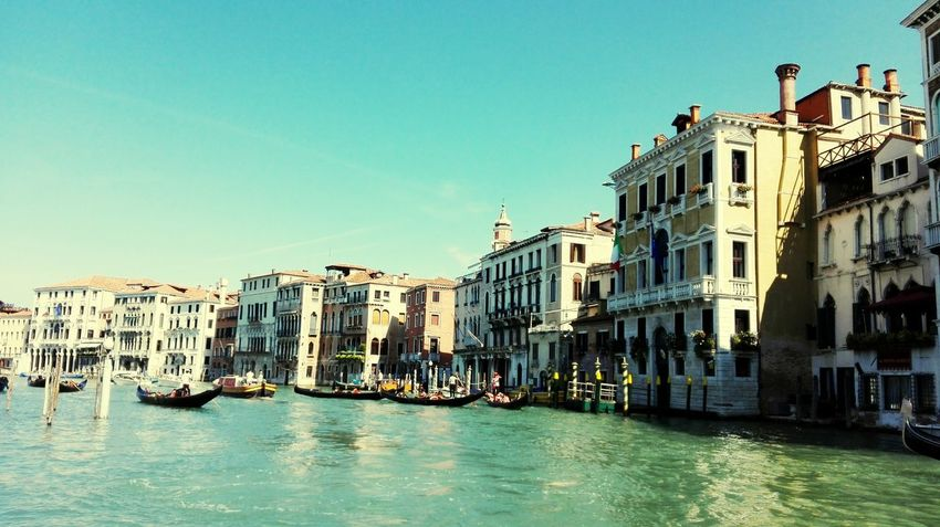 Architecture Building Exterior Built Structure Waterfront Water City Residential Building Residential Structure Clear Sky Blue Canal Day City Life Residential District Outdoors Sky Building Story MC* in Venice, Italy