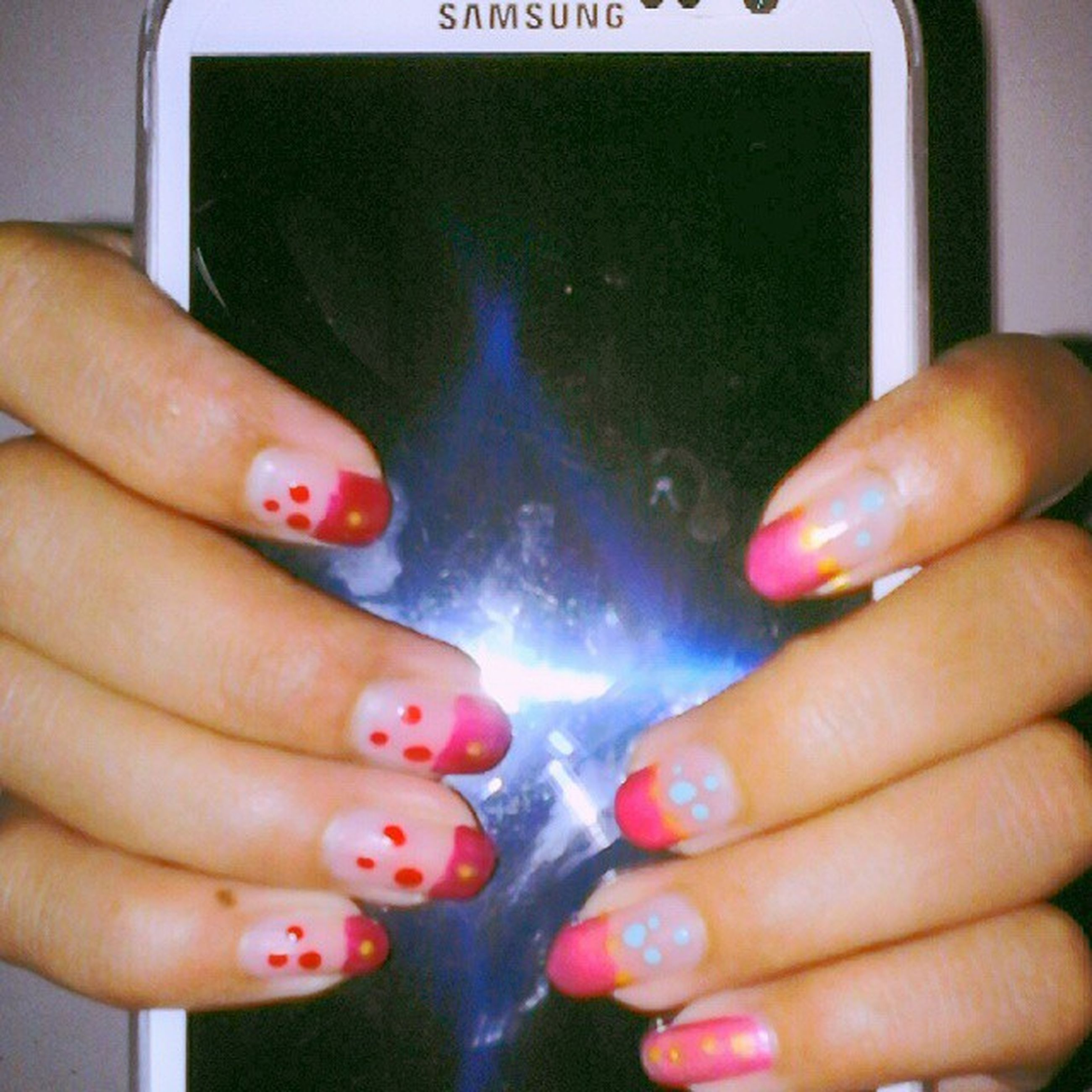 person, holding, part of, human finger, cropped, indoors, unrecognizable person, close-up, lifestyles, leisure activity, nail polish, personal perspective, communication, showing, water, men