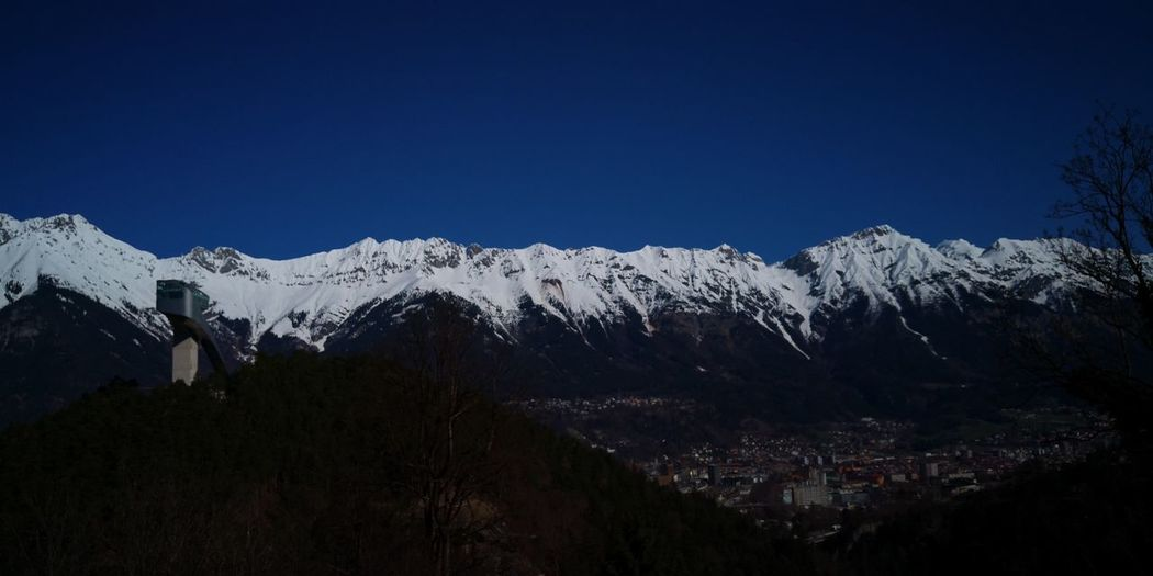 Tree Mountain Snow Astronomy Winter Cold Temperature Snowcapped Mountain Pinaceae Mountain Peak Sky