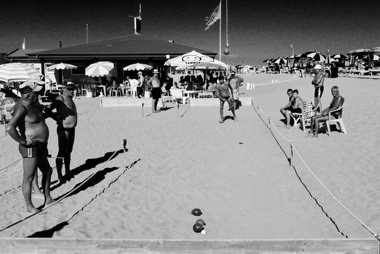 Boccia Old People Adult Beach Competition Crowd Day Enjoyment Game Group Of People Holiday Land Large Group Of People Leisure Activity Lifestyles Men Menswear Nature Outdoors Real People Sand Sport