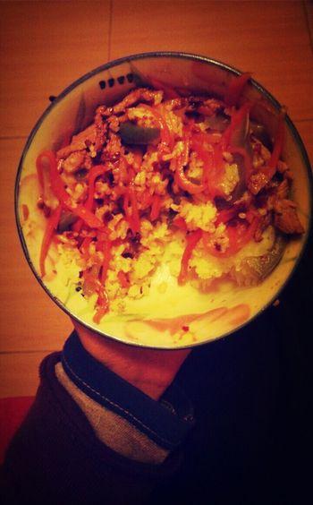 鱼香肉丝+辣酱+米饭=牙口好,吃嘛嘛香