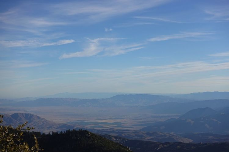 Looking down on Borrego Springs from Santa Rosa Mountain Mountain Beauty In Nature Tranquil Scene Scenics Mountain Range Tranquility Sky Outdoors Landscape