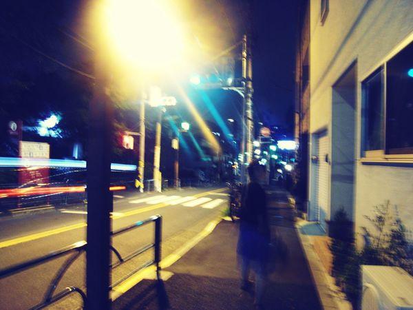 散歩 Illuminated Night Light Beam Streetphotography Japan Photography Japan Ricoh GX100