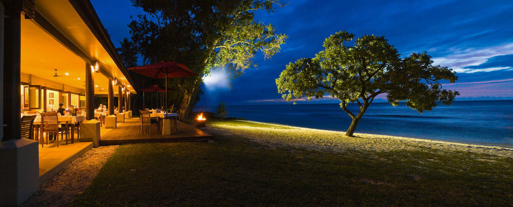 Eratap Resort Efate Island Vanuatu Architecture Building Exterior Cruise Dusk Illuminated Melanesia Melanesian Nature Night Outdoors Pacific Pacific Ocean Sea Shipping Docks Sky Tourism Tourist Attraction  Tranquil Scene Tranquility Travel Destinations Traveling Tree Vanuatu Vivid International Water