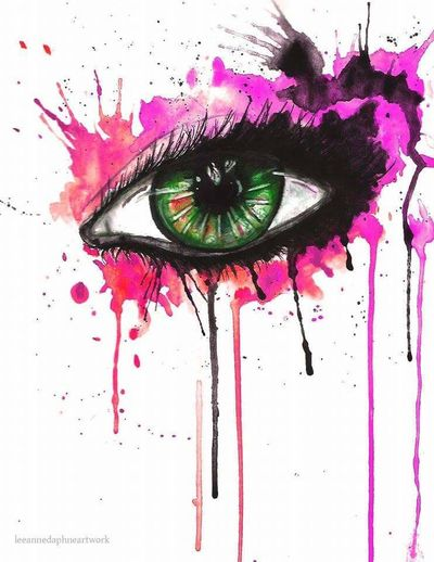 Human Face Vibrant Color Pink Color Fashion Abstract Women Textured  Human Body Part Human Eye Close-up People Day Studio Shot First Eyeem Photo Doubleexposures Painting Tattoolife Portrait Tattoo Tattoodesign Arts Culture And Entertainment Art, Drawing, Creativity TattooApprentice Canvas/ Mag/ Print Quality Paint