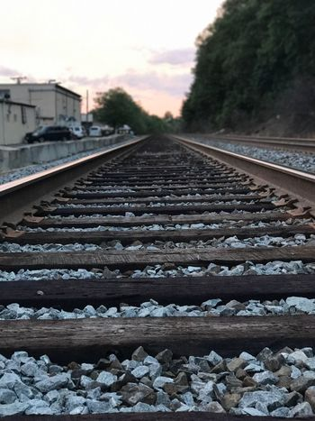 Railroad Track Rail Transportation Transportation No People Day Railroad Tie The Way Forward Outdoors Nature Sky Tree Close-up