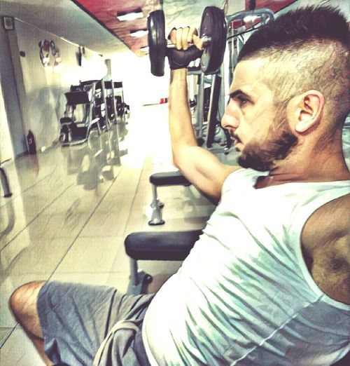 Indoors  Adults Only One Man Only Only Men One Person Men Business Finance And Industry Adult Real People Workshop People Day Human Body Part Mechanic Auto Repair Shop Close-up Fitness Fitnessmodel Workout Bodybuilding Motivation