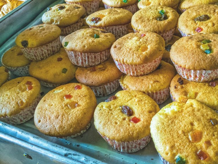 Cupcakes Bakery Baking Traditional ASIA Dried Fruit Sweet Effort Sell Tray Favourite Delicious No People Abundance Large Group Of Objects High Angle View Food And Drink Day Full Frame Food Freshness Close-up Ready-to-eat